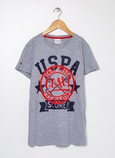 U.S. Polo Assn. U.S. Polo Assn. Gri Melanj Erkek Çocuk T-Shirt Gri